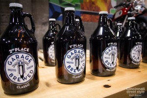 Garage Brewed Trophies made with Growlers = Growphies