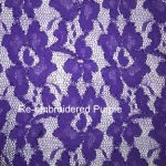 Re-embroidered Purple