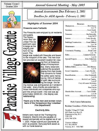 OCTOBER 2004 Newsletter
