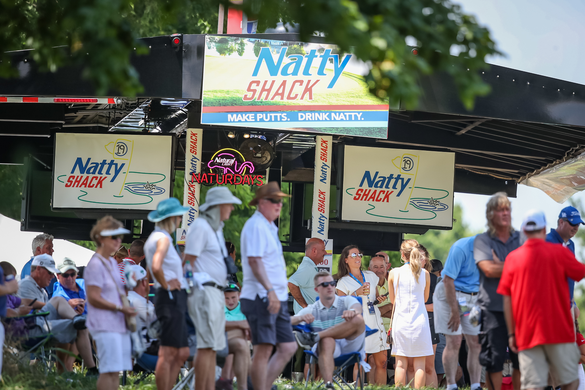 BAR-2019-The Natty Shack is just getting going. $4 beers become $3 beers after a birdie.
