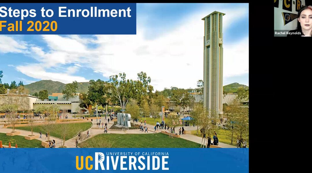 UCR Incoming Freshman Student Webinars (Videos)
