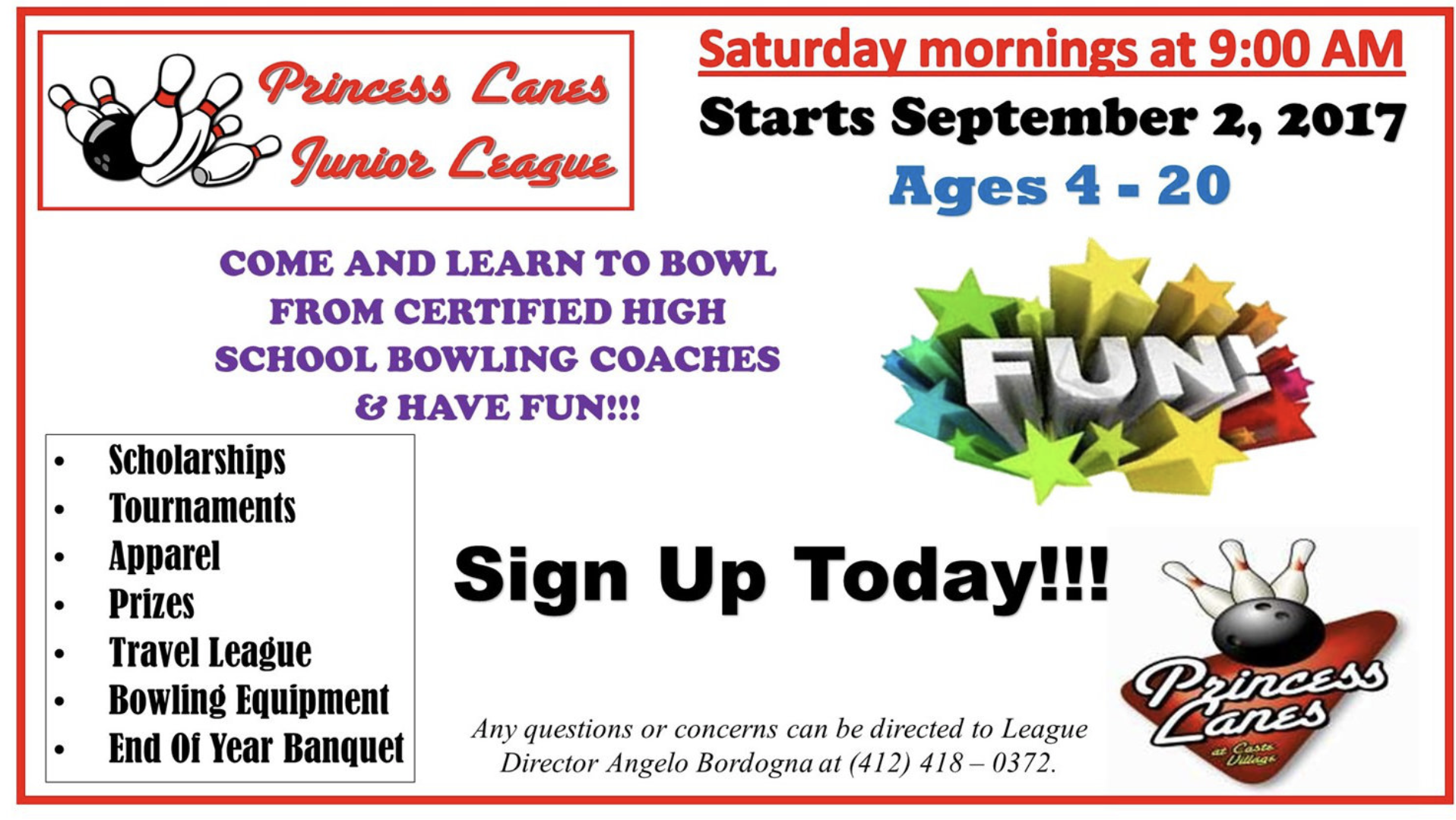 Summer Youth Leagues at Princess Lanes