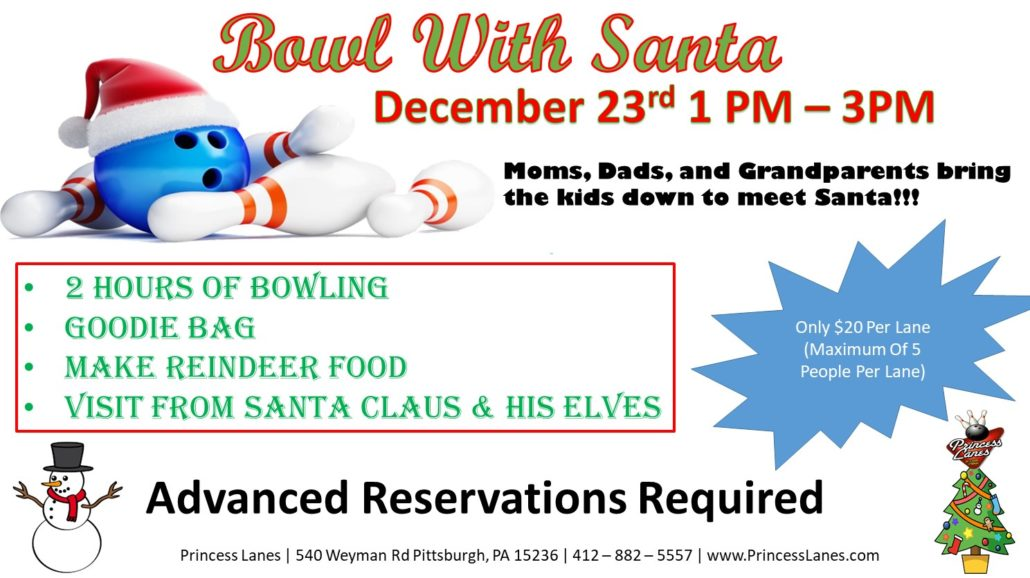 Bowl with Santa at Princess Lanes