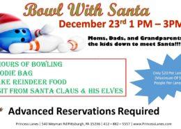 Bowl with Santa at Princess Lanes