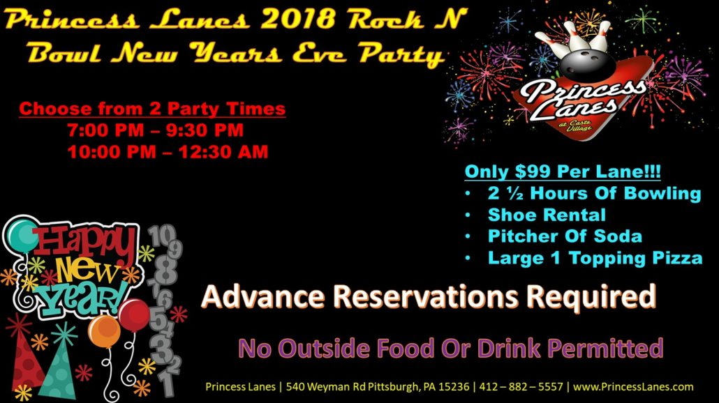 2018 Rock N Bowl New Years Eve Party at Princess Lanes
