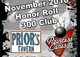 November Honor Roll at Princess Lanes