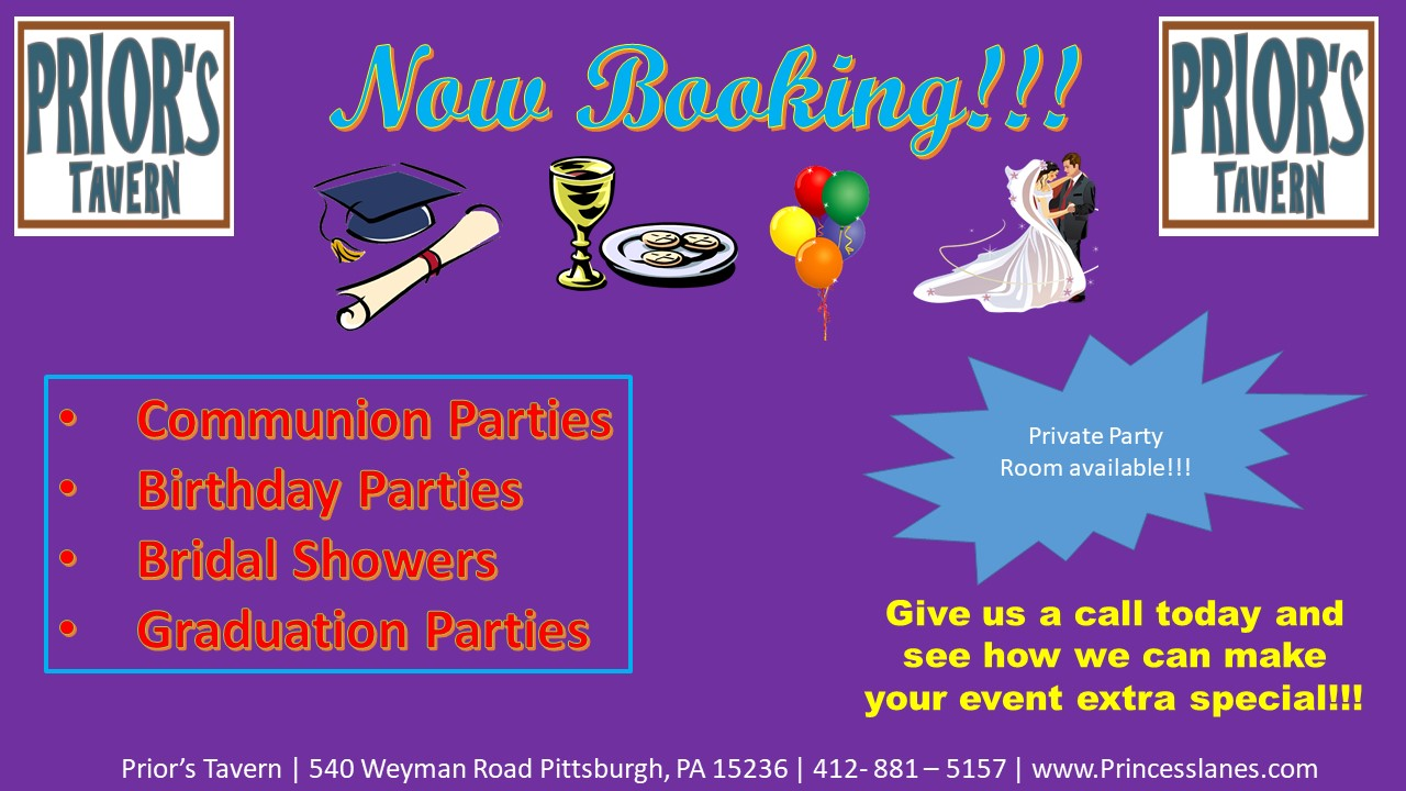 Prior's Tavern Party Booking