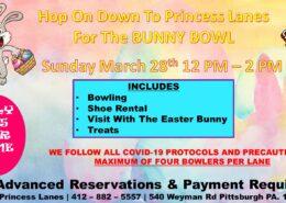 Bunny Bowl March Bowling Special at Princess Lanes