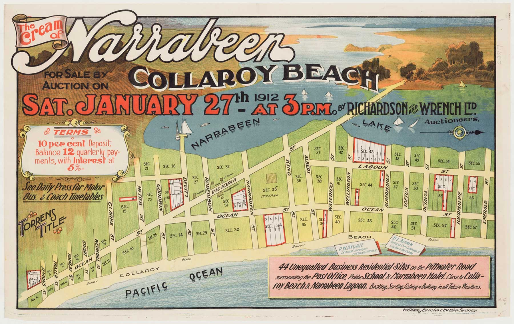 Narrabeen the Cream 1912 – Poster