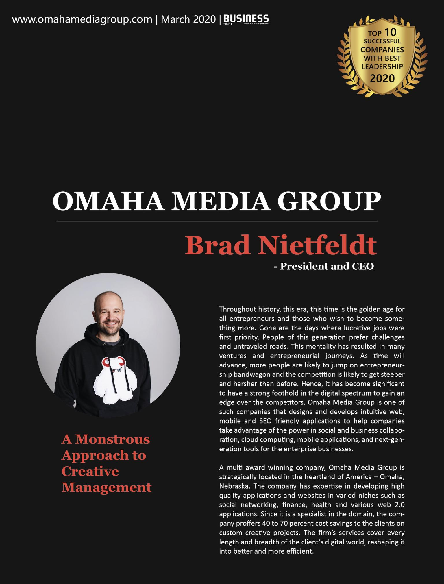 Brad Nietfeldt Top Ten Business Leadership Companies