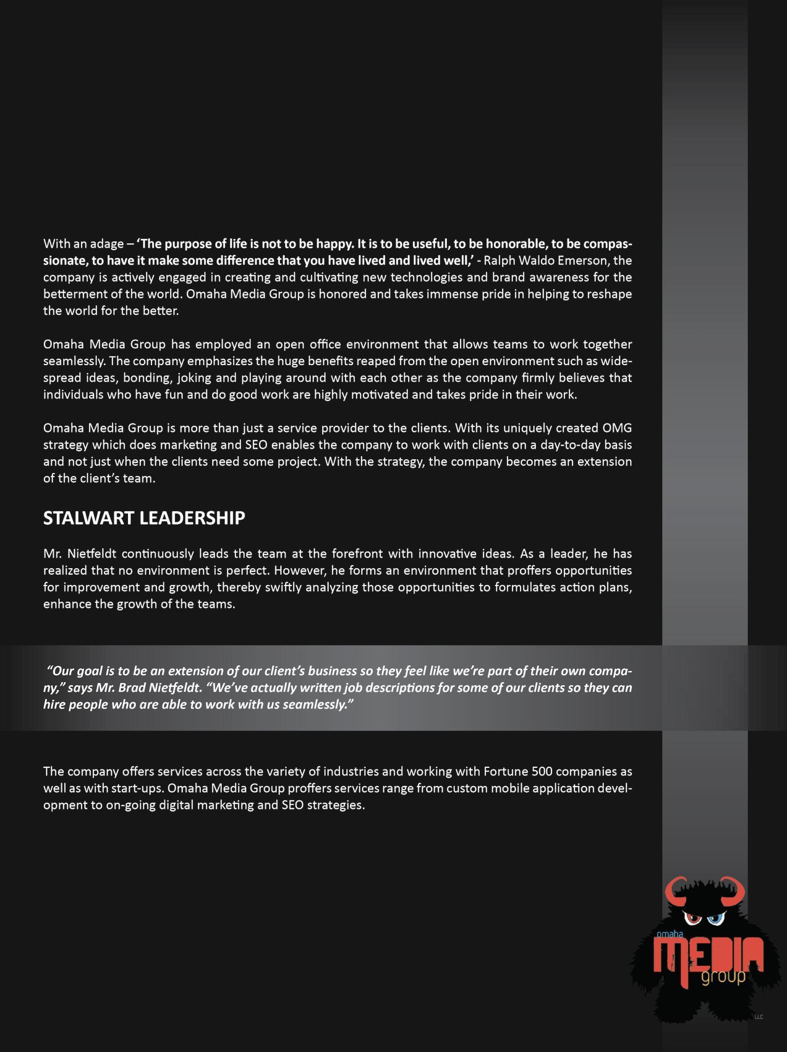 Brad Nietfeldt Top Ten Business Leadership Companies