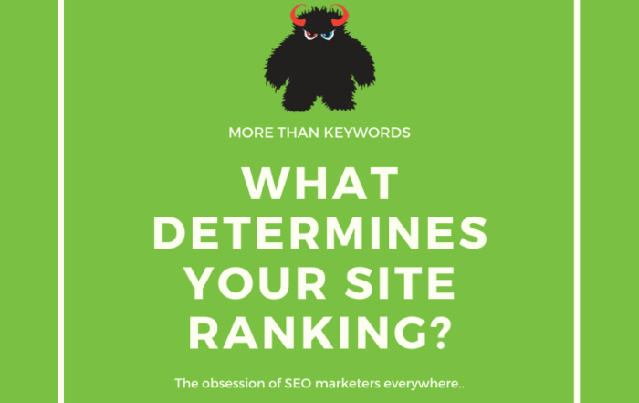 what determines your site ranking