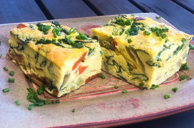 2 Breakfast Frittata Squares