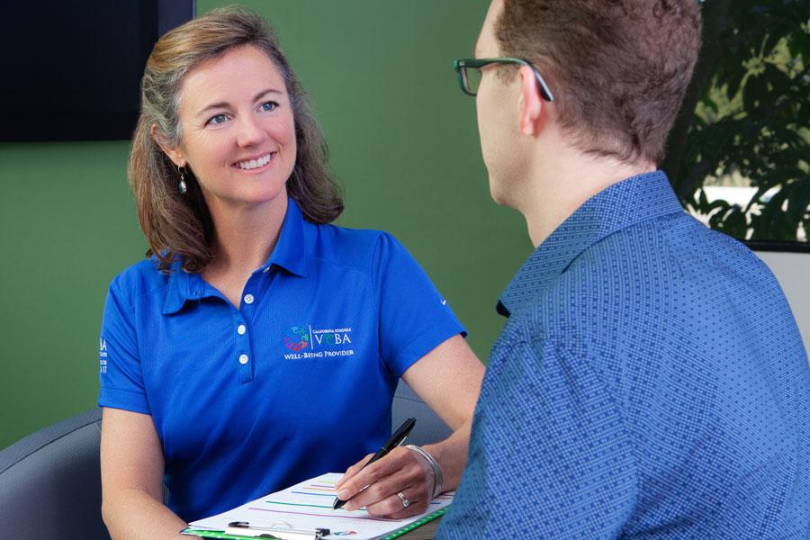 Nurse navigator meeting with client