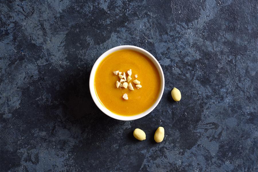 Bowl of Peanut Ginger Sauce