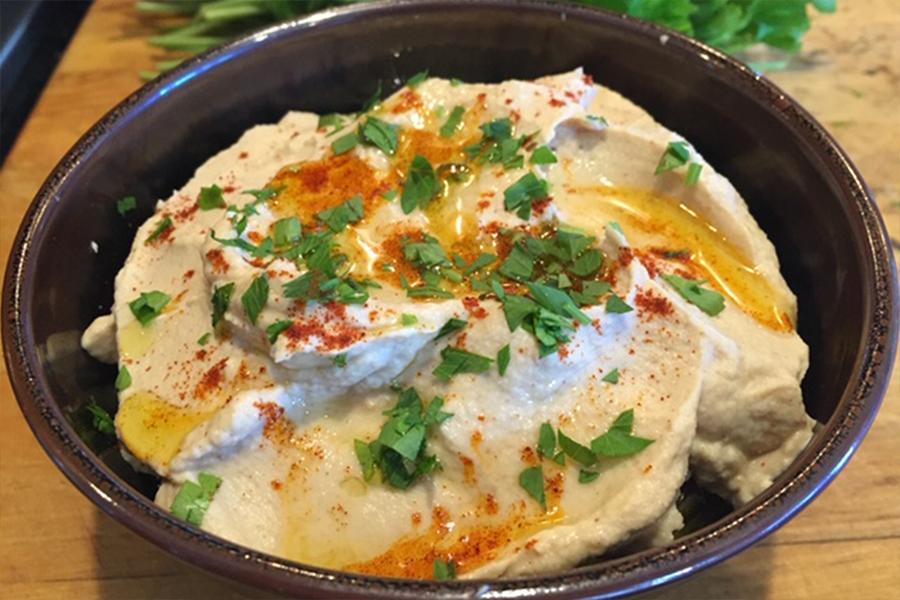 Bowl of Roasted Cauliflower Hummus