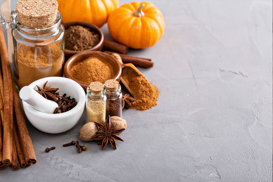 Pumpkins, cinnamon, cloves and other seasonal spices