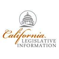 Logo for California Legislative Information