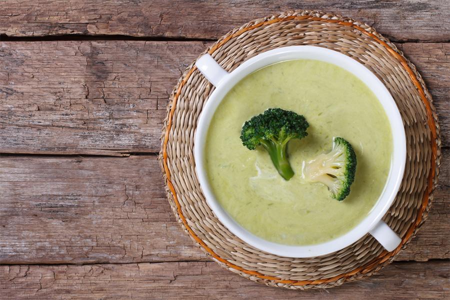 Bowl of Creamy Cashew Broccoli Soup