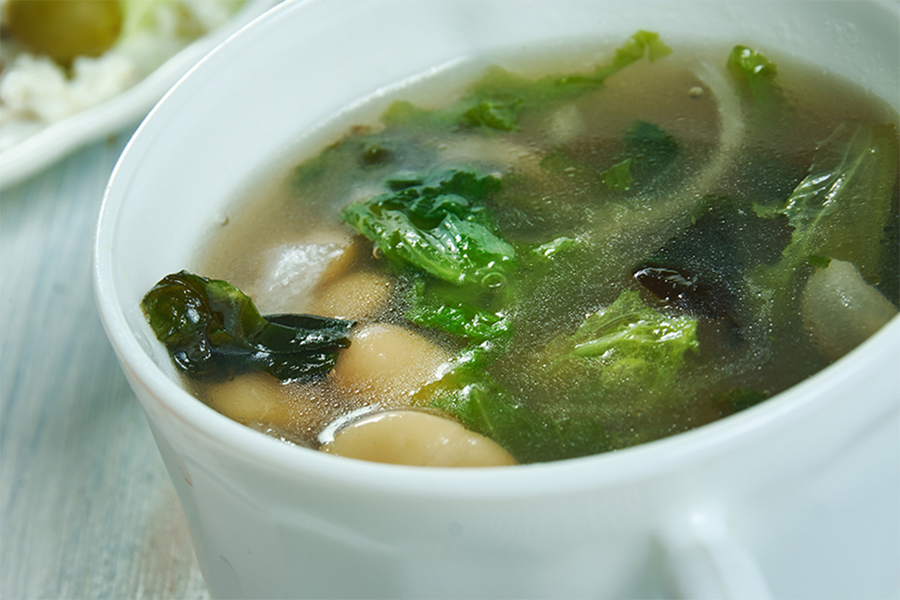 Bowl of Greens & Beans Soup