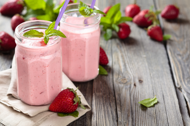 2 jars of strawberries & cream smoothies