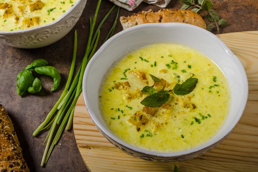 Bowl of Thai Curry Lentil-Coconut Soup
