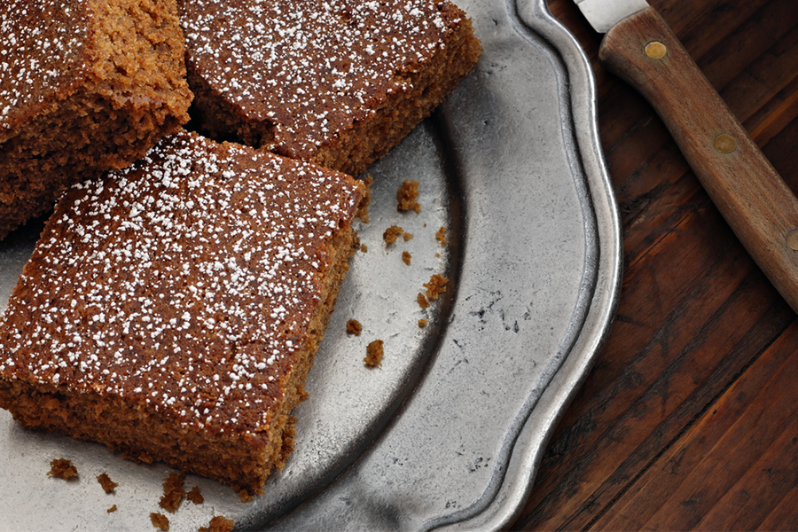 Plate with 3 Triple Gingerbread Squares