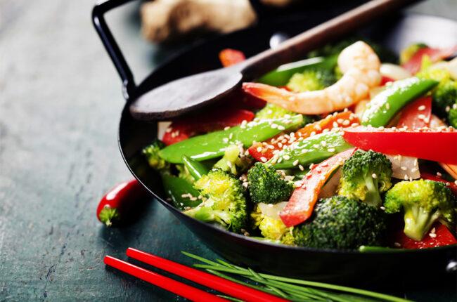 Wok with Ginger-Broccoli Stir Fry