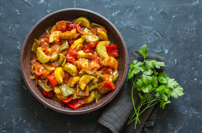 Bowl of Braised Vegetables