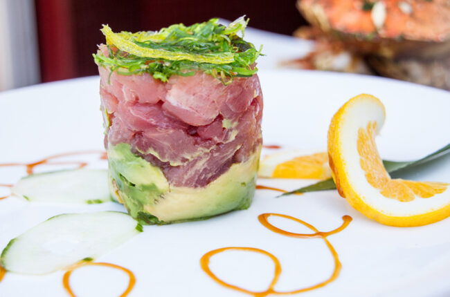 Ahi, Mango and Avocado Stack
