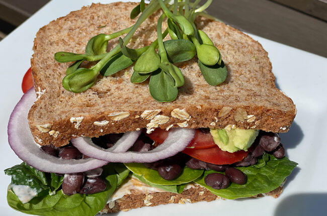 Black Bean Sandwiches with Chipotle Sauce