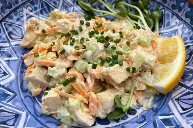 Smoky Chicken Salad & Lemony Slaw