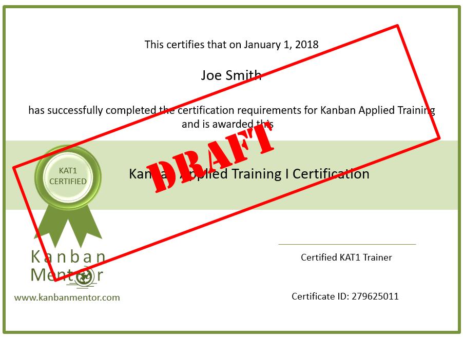 Kanban Training Certificate