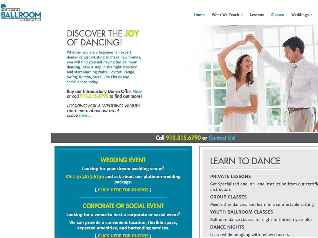 Overland Park Ballroom website