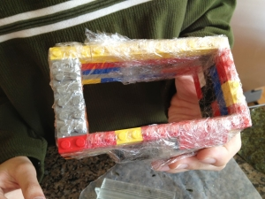 Saran wrapped the entire mold.