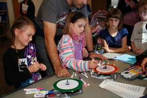 Spin art was a hit. We spun over 400 masterpieces.