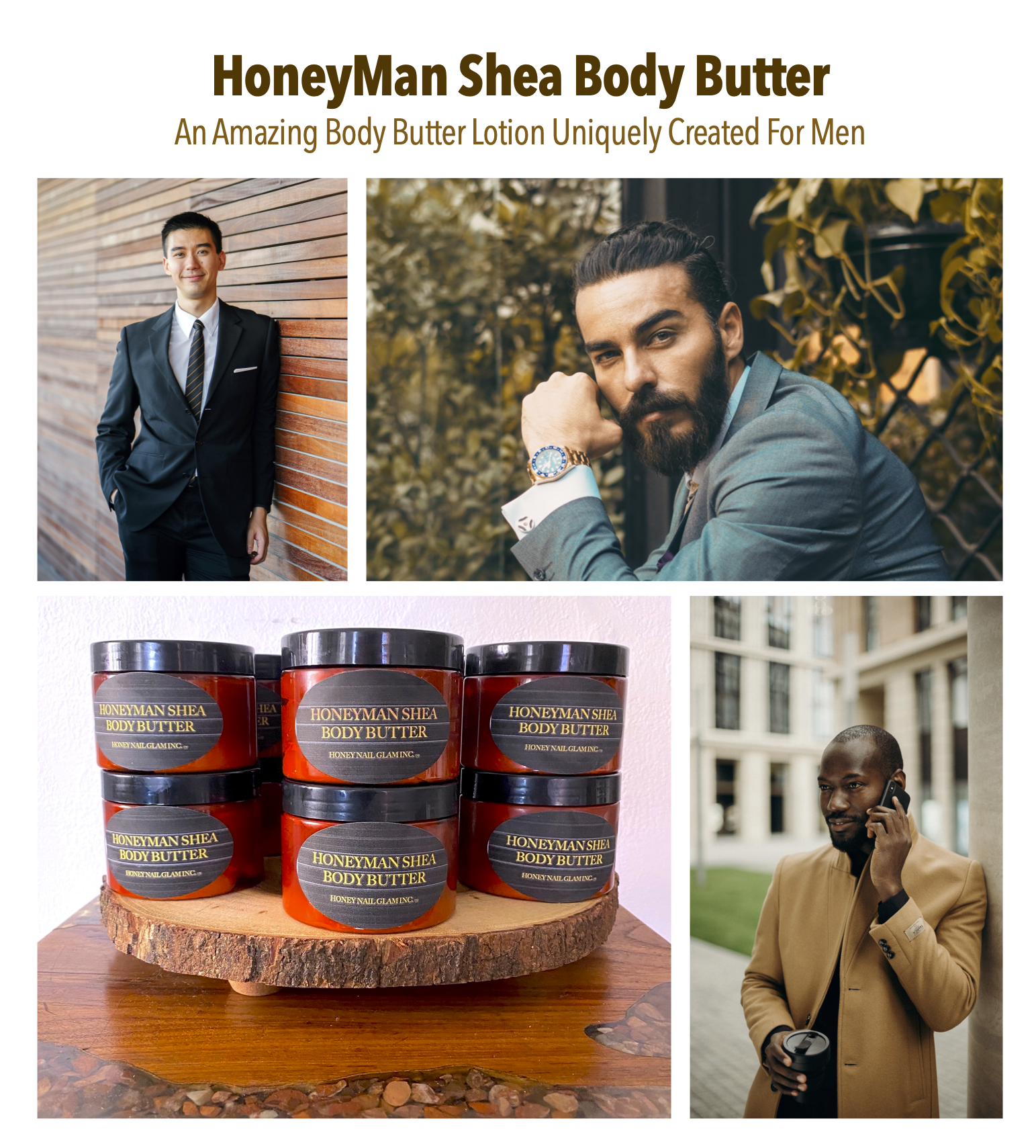 mens, grooming, HoneyMan Shea Body Butter