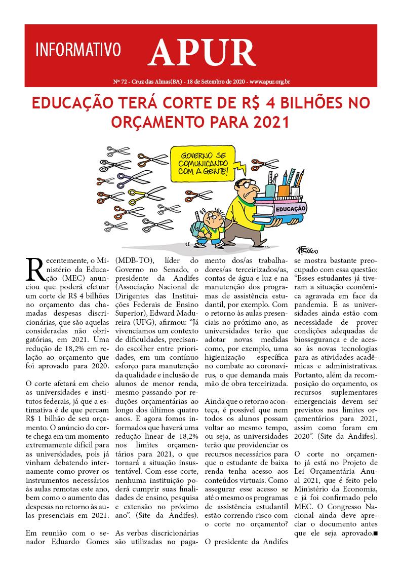 Informativo APUR – Nº72