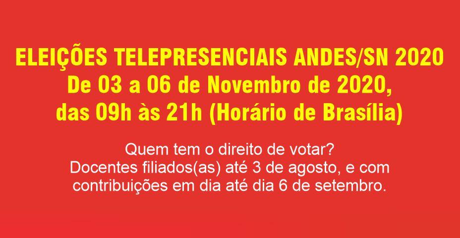 ELEIÇÕES ANDES-SN – VOTAÇÃO COMEÇA NESTA TERÇA-FEIRA