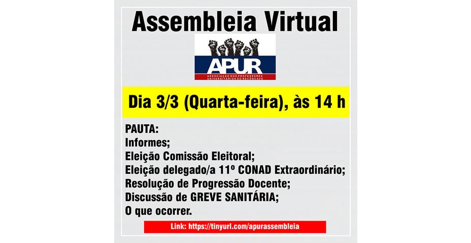 Convocação Assembleia Virtual