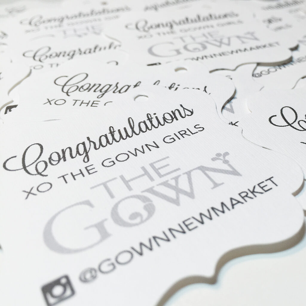 The gown gift tag