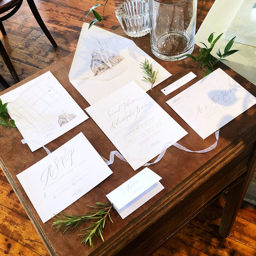 Hartman venue wedding invitation