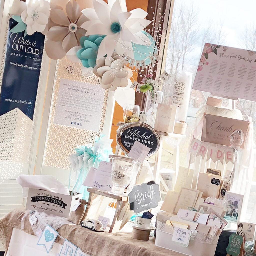 Holland Marsh Wineries wedding show display
