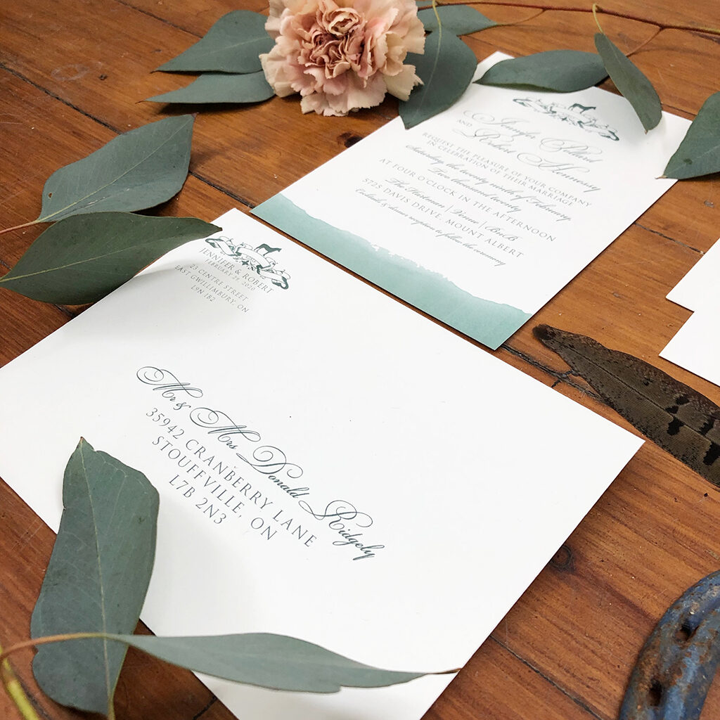 equestrian horse wedding invitation