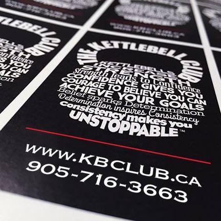 The kettlebell club card