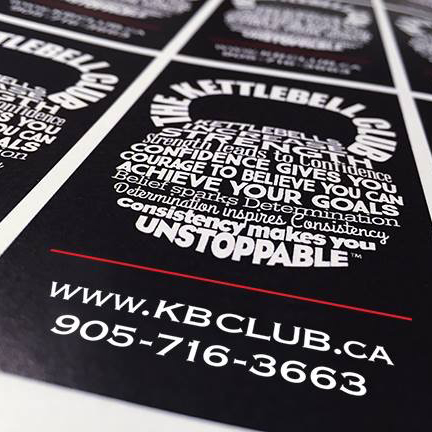 The kettlebell club card