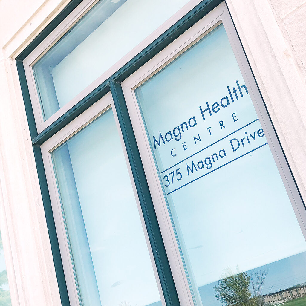 magna health window decal