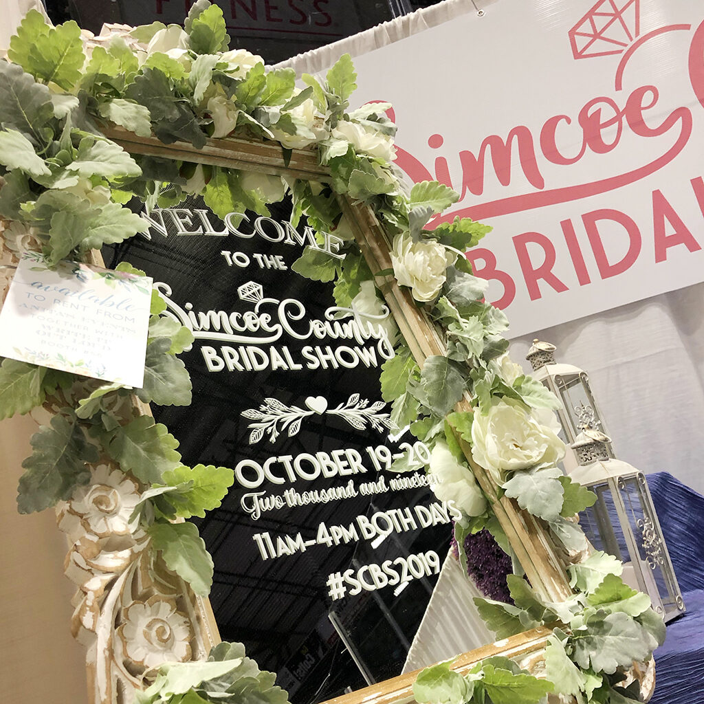 simcoe county bridal show welcome mirror