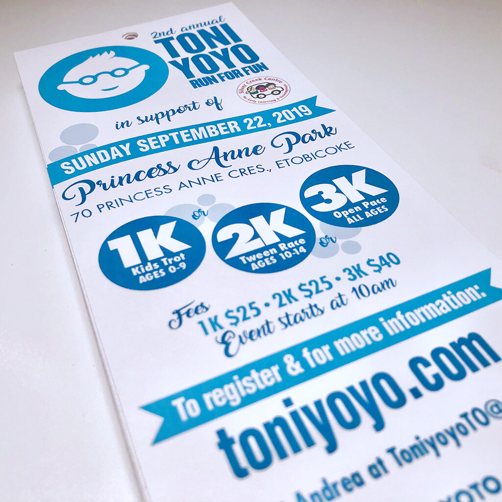 Toni Yo Yo run flyer