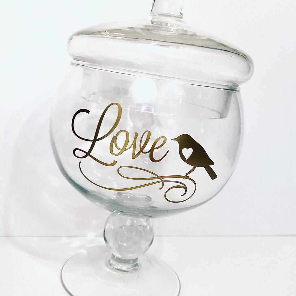 love bird vase